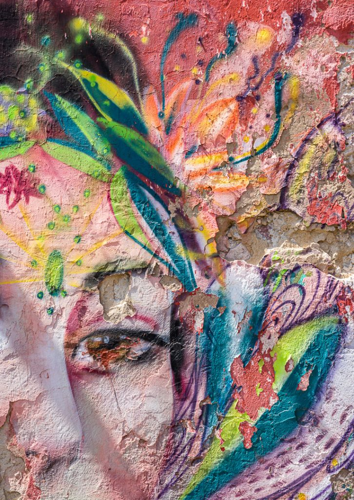 Colorful mural in Getsemani