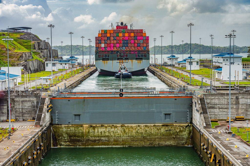Leaving the Gatun Locks in Panama